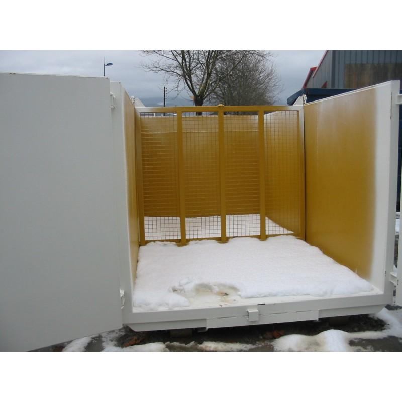 benne standard 2 compartiments pour le transport des d chets. Black Bedroom Furniture Sets. Home Design Ideas