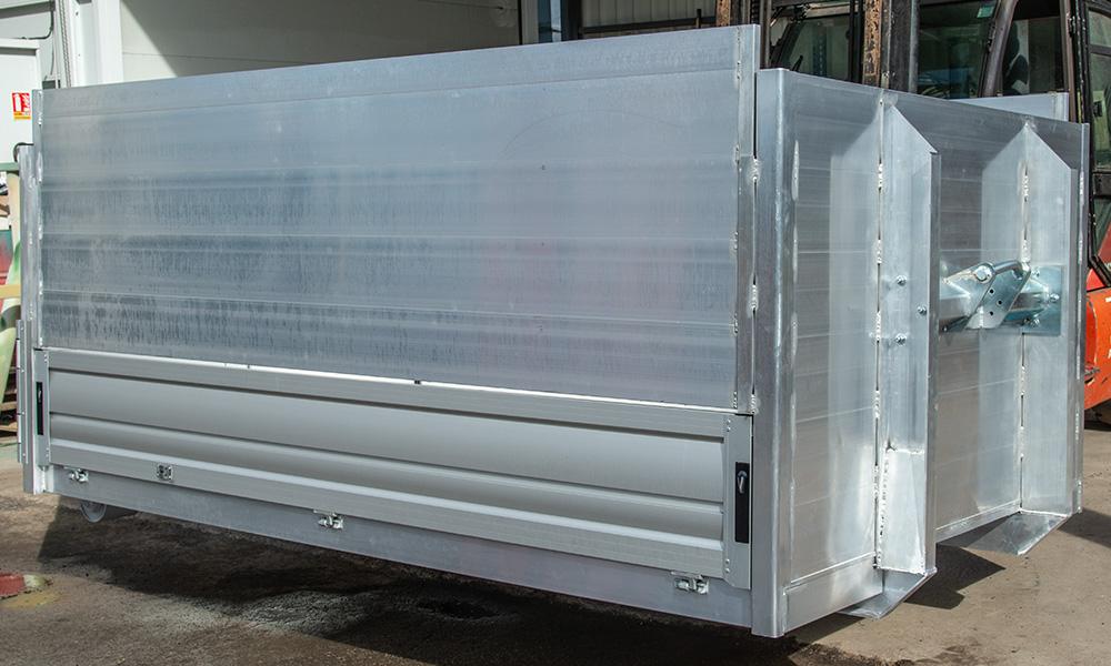 bennes à ridelles aluminium